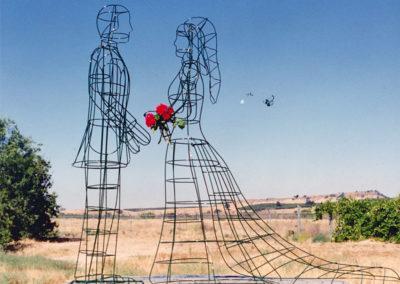 Topiary Wedding Couple