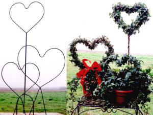 Heart Topiary Frames With Ivy