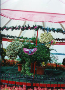 Carousel Rooster Topiary
